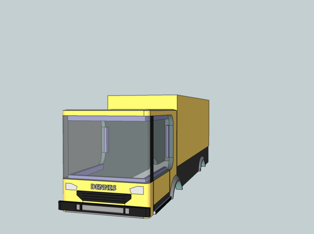 DENNIS 2 ELITE TRUCK FOR TOMYTEC POWERED CHASSIS 3d printed Dennis Lorry