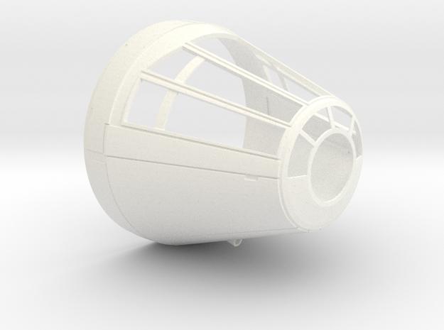 deAgo Millennium Falcon Cockpit Cone V1a in White Processed Versatile Plastic