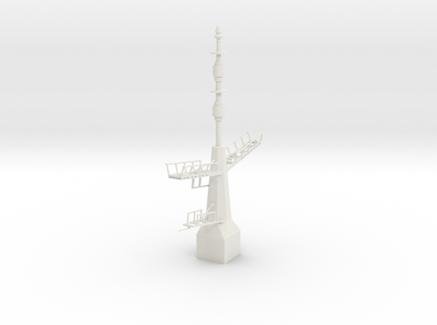 1/96 / 1/100 scale British Navy Type 23 Aft Mast in White Natural Versatile Plastic