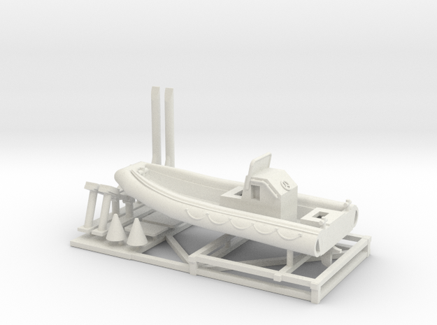 1/72 Scale 23 foot Navy Boat RHIB (RIB) in White Natural Versatile Plastic