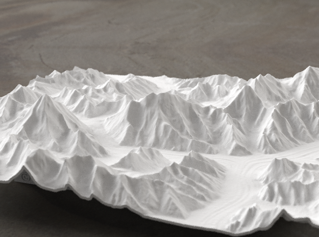8''/20cm Baltoro Glacier and K2, WSF in White Natural Versatile Plastic
