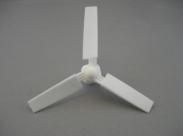 Chopstick Windmill - Western 3 blades in White Strong & Flexible
