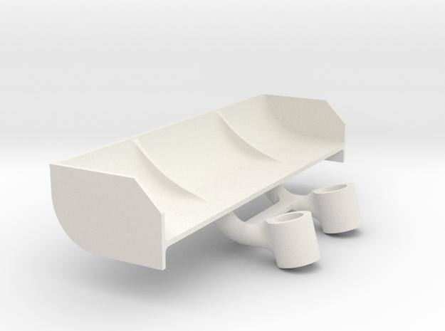 Mini Z Mazda 787B spoiler V3 15 degres in White Natural Versatile Plastic