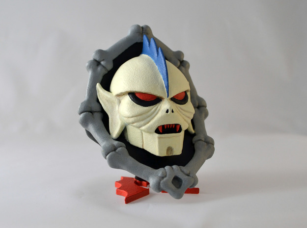 Horde Leader Sculpture in White Processed Versatile Plastic