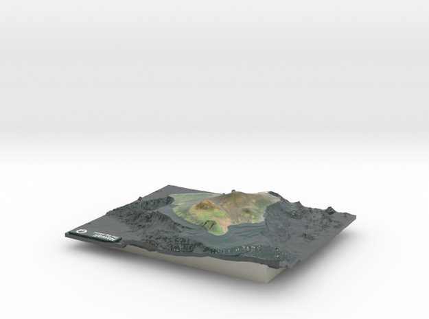 The Big Island Map, Hawaii in Coated Full Color Sandstone
