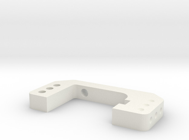 CC01 Halter Hinterachse in White Natural Versatile Plastic