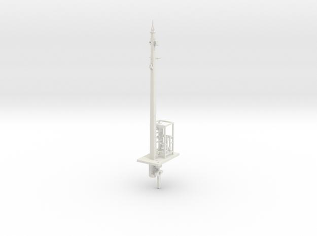 NSWGR 7mm Scale 27' Signal Lower Quadrant in White Natural Versatile Plastic