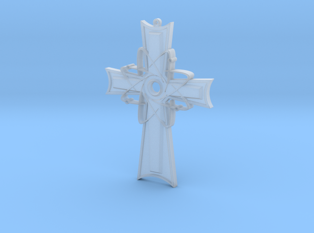 Atomic Cross Pendant (Beta) in Frosted Extreme Detail