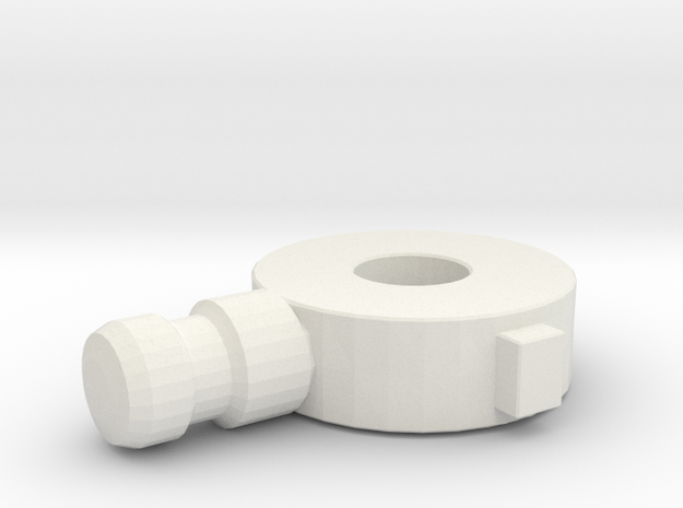 Replacement Knee Joint for Rockin' Action Megaman in White Natural Versatile Plastic