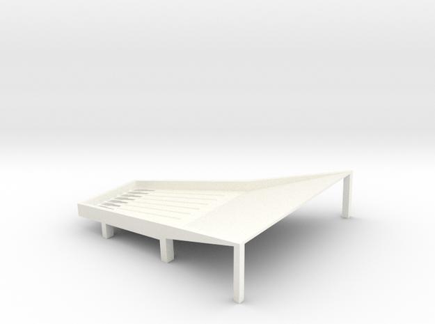 Cone Shake Tray 3t in White Processed Versatile Plastic