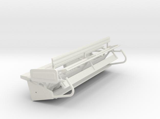 N15 Rigid Head in White Natural Versatile Plastic