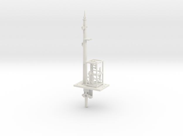 NSWGR 7mm Scale 18' Signal Lower Quadrant in White Natural Versatile Plastic