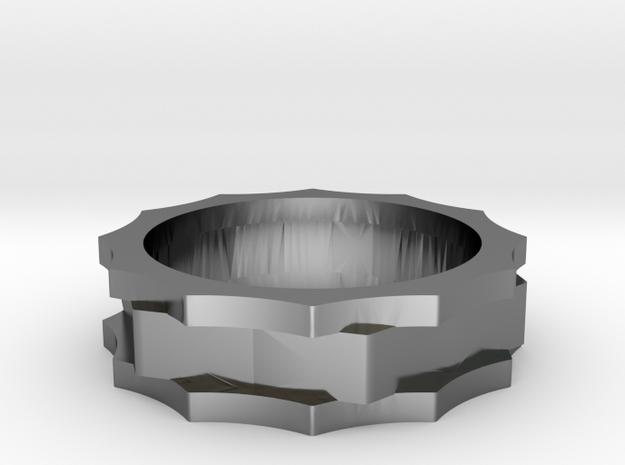 Gears SZ 8 US in Fine Detail Polished Silver