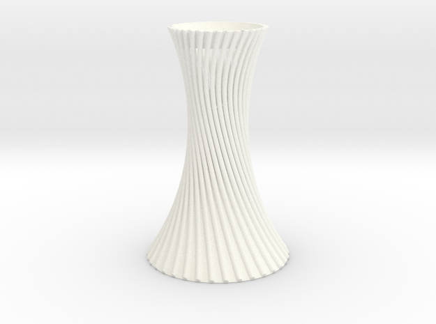 Twited Vase for home decoration in White Strong & Flexible Polished