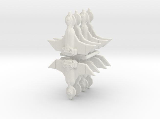 Invader Scout 8 Sprue in White Natural Versatile Plastic
