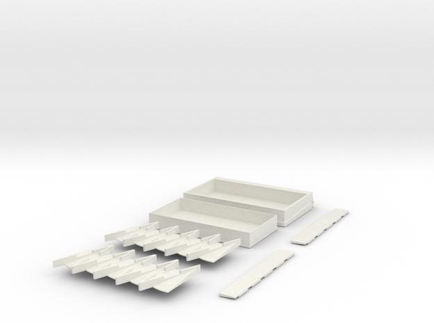 TiltShip2 Fixed  120 cone box parts in White Natural Versatile Plastic