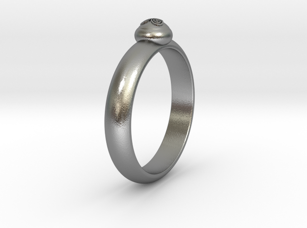 Ø0.795 inch/Ø20.2 mm Celtic Triskillion Ring in Natural Silver