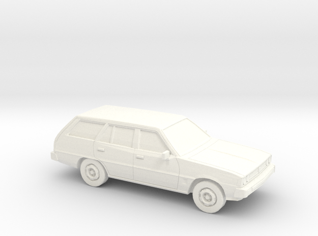 1/43  1978 Mitsubish Galant Station Wagon in White Processed Versatile Plastic