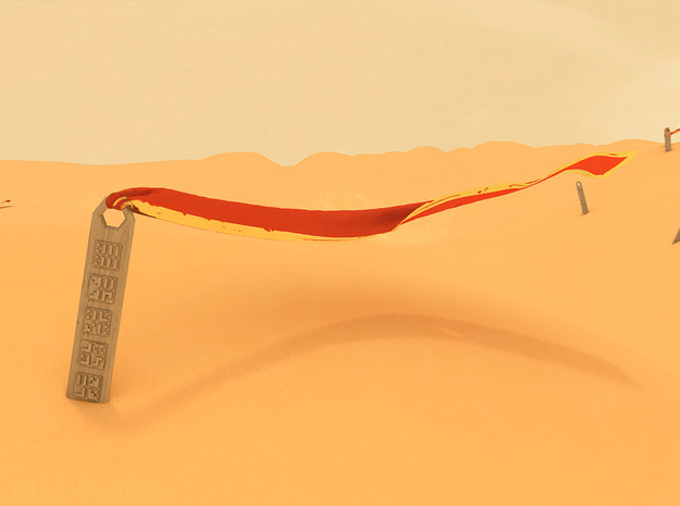 Journey Pendant 3d printed The pendant in the desert(not an Image from the game)