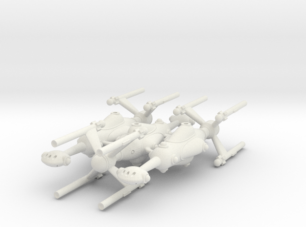 Invader Destroyer Trio in White Strong & Flexible