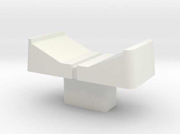 AX60 Slider Cap in White Natural Versatile Plastic