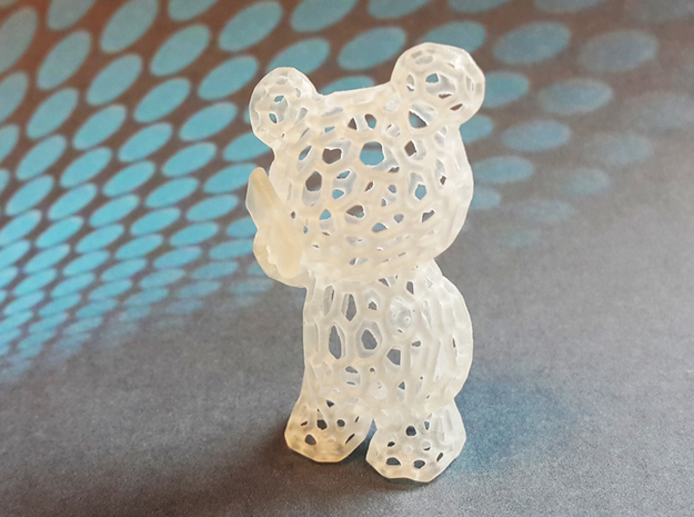 Phoneholic Bear Pendant - Big in Frosted Ultra Detail