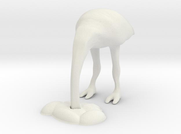 Ostrich 2 - HO scale in White Natural Versatile Plastic