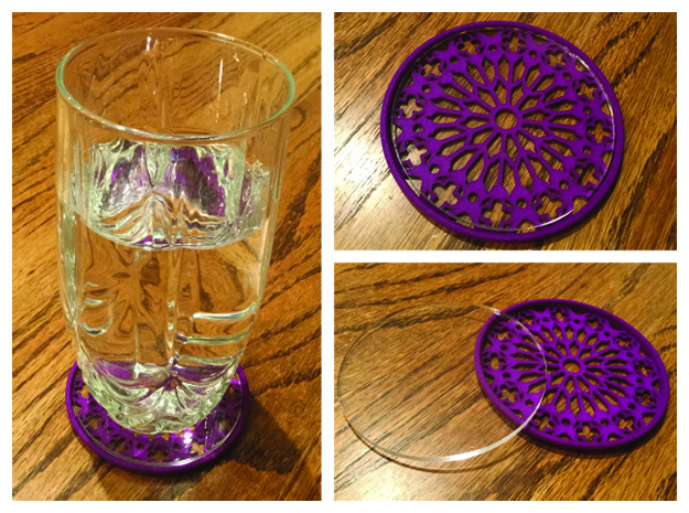 "3-1/4"" Coaster 3 (Insert) in Purple Processed Versatile Plastic"
