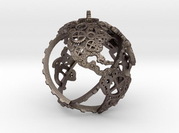 Gear Globe / Maker Globe Pendant in Stainless Steel