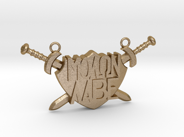 'Molon Labe' Pendant in Polished Gold Steel