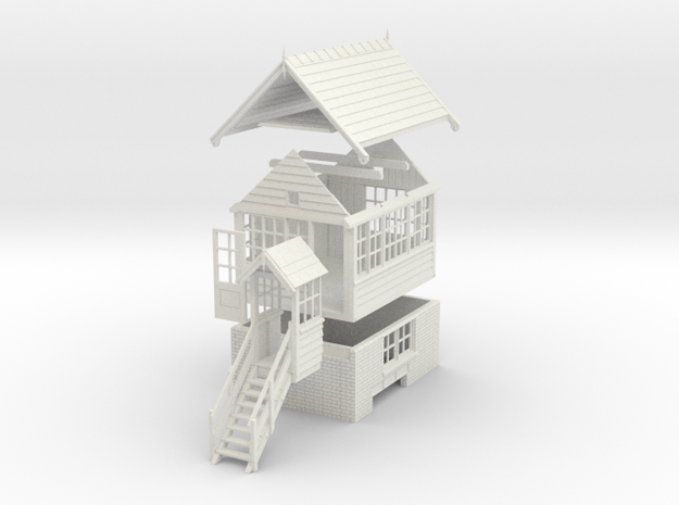 NS71 - Generic NSR Signal box in White Natural Versatile Plastic