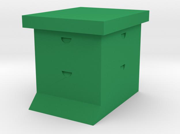 Simple Super Bee Hive Sculpture in Green Processed Versatile Plastic