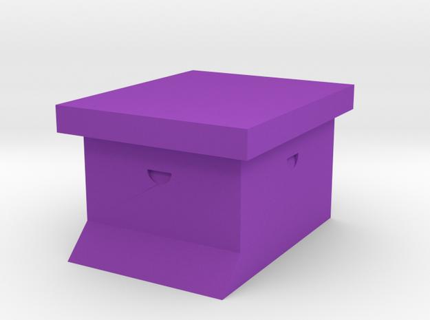 Simple Bee Hive Sculpture in Purple Processed Versatile Plastic