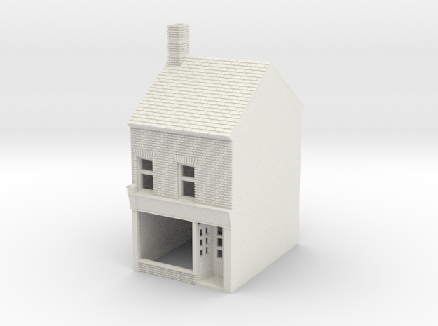 RHS-5 N Scale Rye High Street building 1:148 in White Natural Versatile Plastic