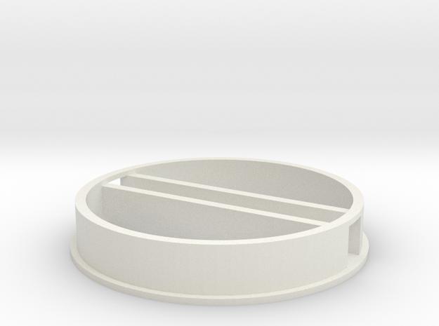 'N Scale' - 48' Diameter Bin - Foundation w/ Tunne in White Natural Versatile Plastic
