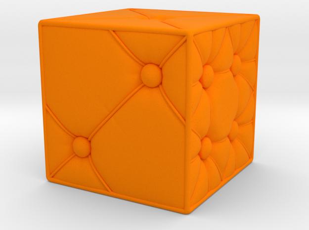 Furniture Dice D6 in Orange Processed Versatile Plastic