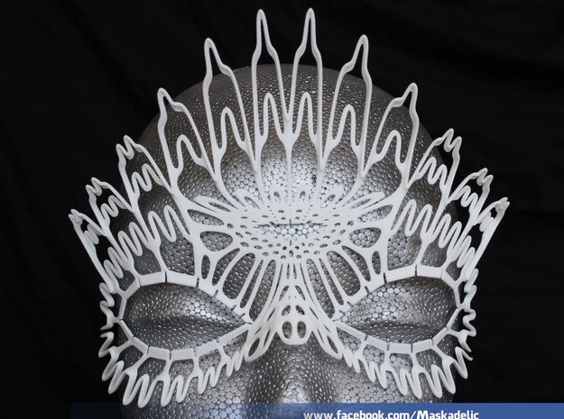Party Mask 'Ancient Mantra' 3d printed Ancient Mantra