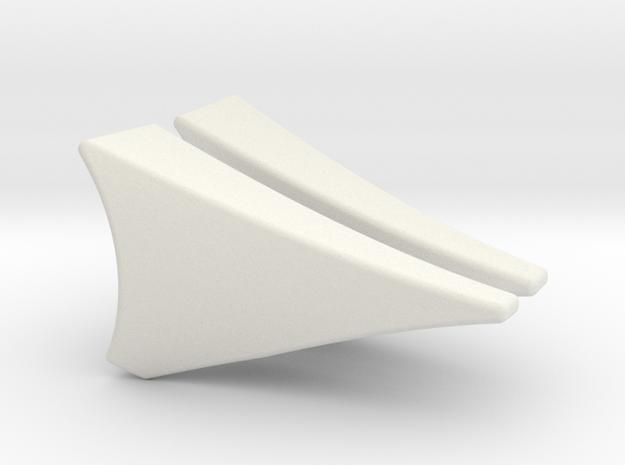 Rear Fender 2.5 Deg in White Natural Versatile Plastic