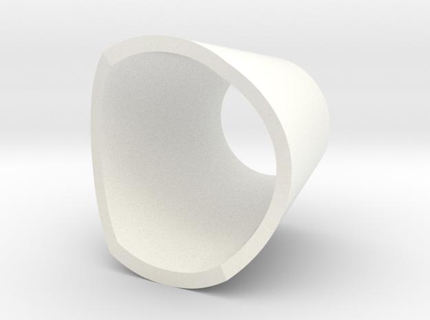 Mini BR Neck Cone II in White Processed Versatile Plastic