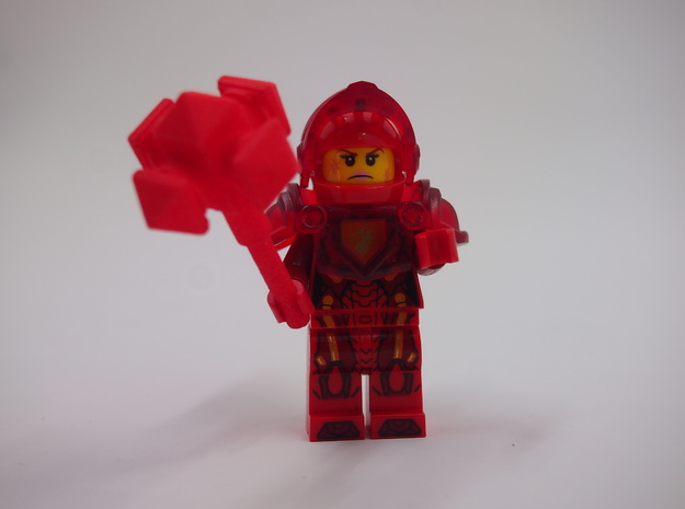 MiniFig NK Mace Ultimate in Red Strong & Flexible Polished