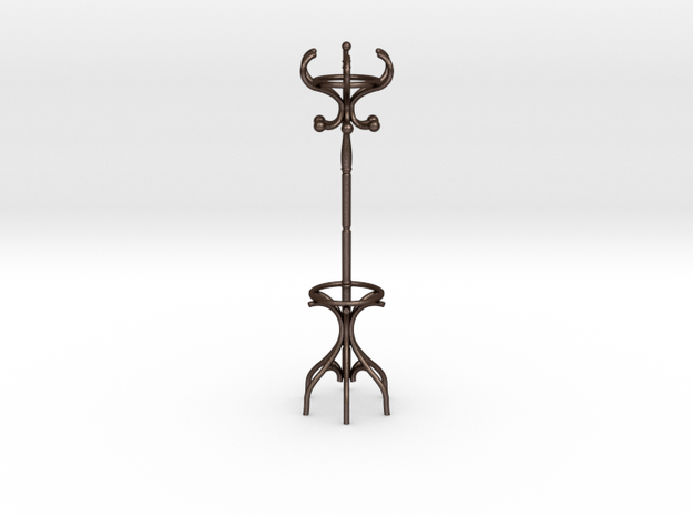 Coat Rack in Matte Bronze Steel