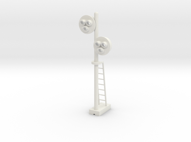 Target Signal Double 3 Light - HO 87:1 Scale in White Natural Versatile Plastic
