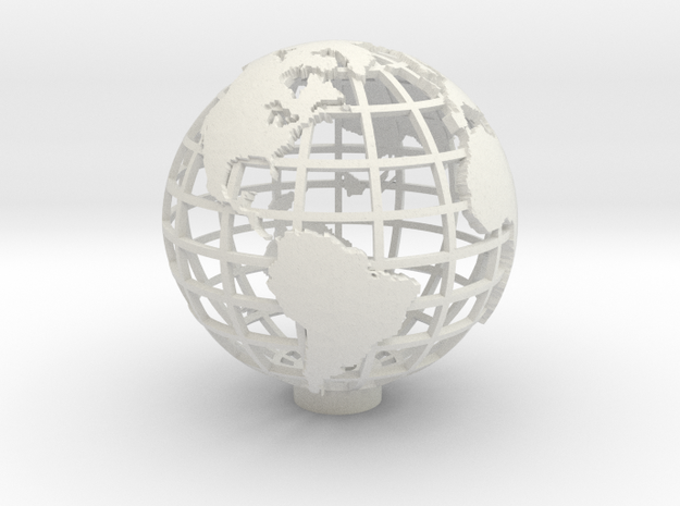 Gridded Globe for Mercator Projection 12cm