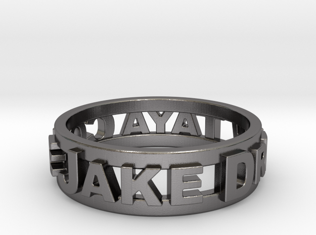 Custom 3D Printed Ring (Request Custom Link Below) in Polished Nickel Steel