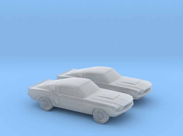1/120 2X 1966 Ford Mustang in Smooth Fine Detail Plastic