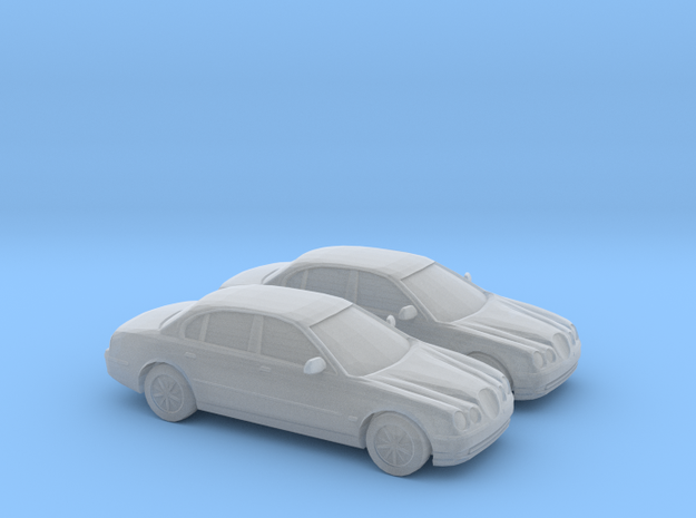 1/120 2X 1998 Jaguar S Type in Smooth Fine Detail Plastic