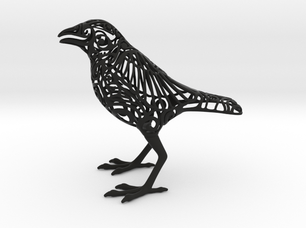 Odin's Raven in Black Natural Versatile Plastic