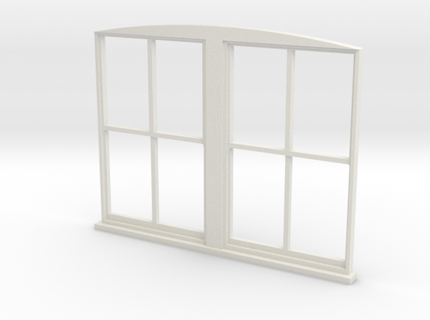 Double Window 1:55 in White Natural Versatile Plastic