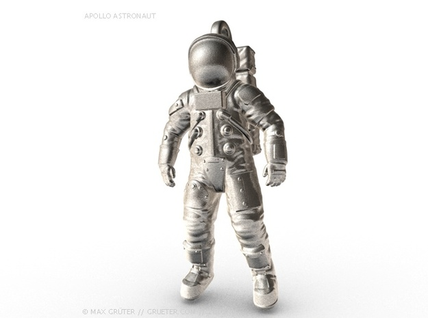 Apollo Astronaut / 50 mm in Raw Silver