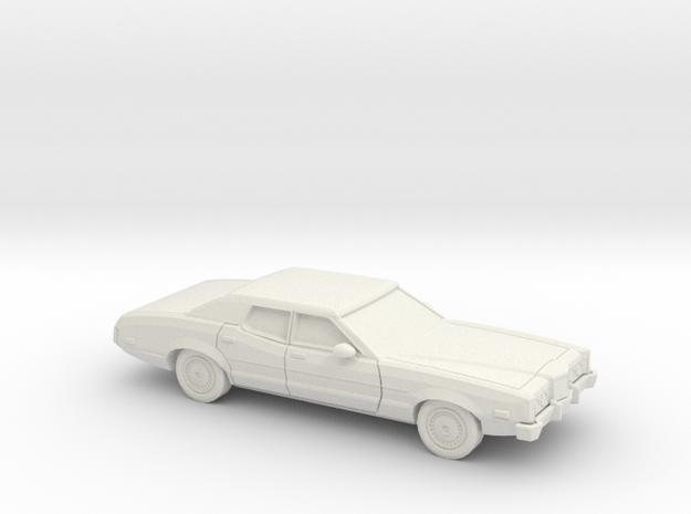 1/87 1972 Mercury Montego Sedan in White Strong & Flexible